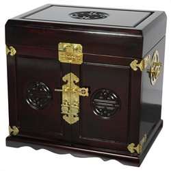 Oriental Furniture Jewelry Box in Rosewood