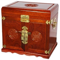 Oriental Furniture Jewelry Box in Honey
