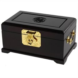 Oriental Furniture Small Jewelry Box in Rosewood