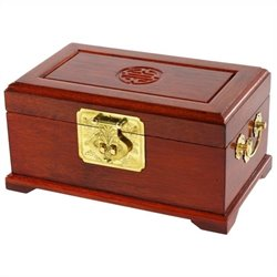 Oriental Furniture Small Jewelry Box in Honey
