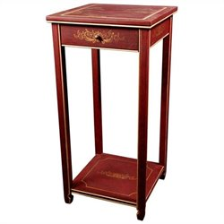 Oriental Furniture Pedestal in Red