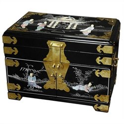 Oriental Furniture Daisi Jewelry Box in Black