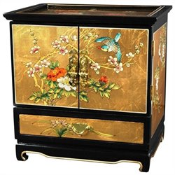 Oriental Furniture Empress Lacquer Jewel Box in Gold