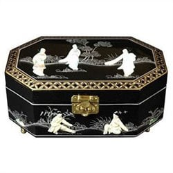 Oriental Furniture Violetta Jewelry Box in Black