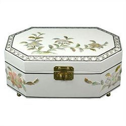 Oriental Furniture Violetta Jewelry Box in White