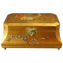Oriental Furniture Adorlee Jewelry Box in Gold