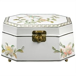 Oriental Furniture Antoinette Jewelry Box in White
