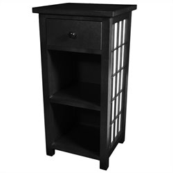 Oriental Furniture Shoji End Table in Black