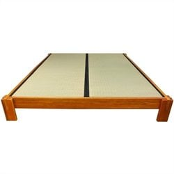 Oriental Furniture Tatami Platform Bed in Honey