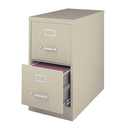 2 Drawer Letter File Cabinet in Putty