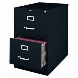 2 Drawer Legal File Cabinet in Black