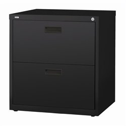 2 Drawer Lateral File Cabinet in Black