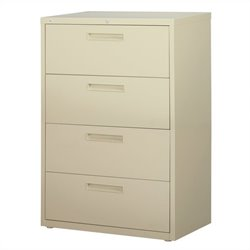 4 Drawer Lateral File Cabinet in Putty