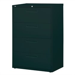 4 Drawer Lateral File Cabinet in Black