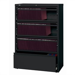 4 Drawer Lateral File Cabinet File in Black