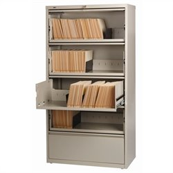 5 Drawer Lateral File Cabinet File in Putty