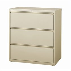 3 Drawer Lateral File Cabinet in Putty