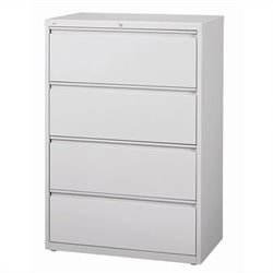 4 Drawer Lateral File Cabinet in Gray