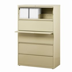 5 Drawer Lateral File Cabinet in Putty