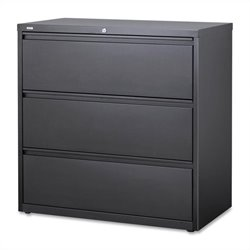 3 Drawer Lateral File Cabinet in Charcoal