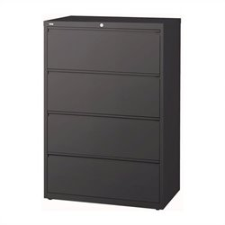 4 Drawer Lateral File Cabinet in Charcoal