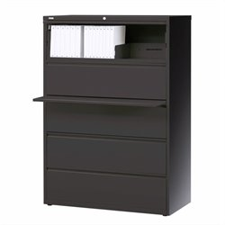 5 Drawer Lateral File Cabinet in Charcoal