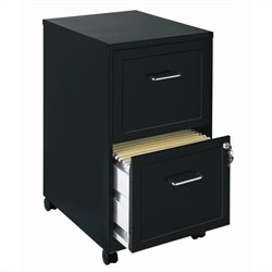 Mobile 2 Drawer File Cabinet in Black