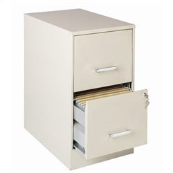 2 Drawer Letter File Cabinet in Stone