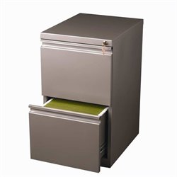 2 Drawer Mobile File Cabinet in Met Bronze