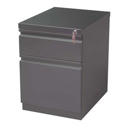 2 Drawer Mobile File Cabinet in Charcoal
