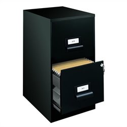 2 Drawer Ultra File Cabinet in Black