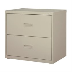 2 Drawer Lateral File Cabinet in Light Gray