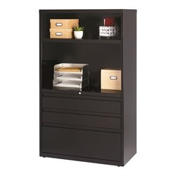 3 Drawer Lateral File Cabinet in Black