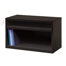 Low Credenza File Cabinet in Black