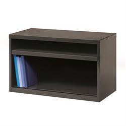 Low Credenza File Cabinet in Charcoal