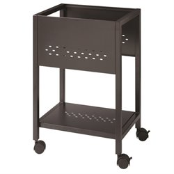 File Cart with Shelf in Black