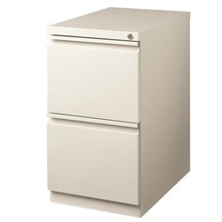 2 Drawer File Cabinet in Light Gray