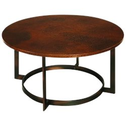 Hammary Nueva Round Cocktail Table in Copper