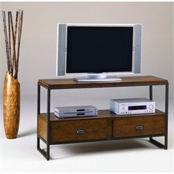 Hammary Baja Entertainment Console Table in Vintage Umber