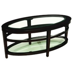 Hammary Urbana Oval Cocktail Table in Merlot