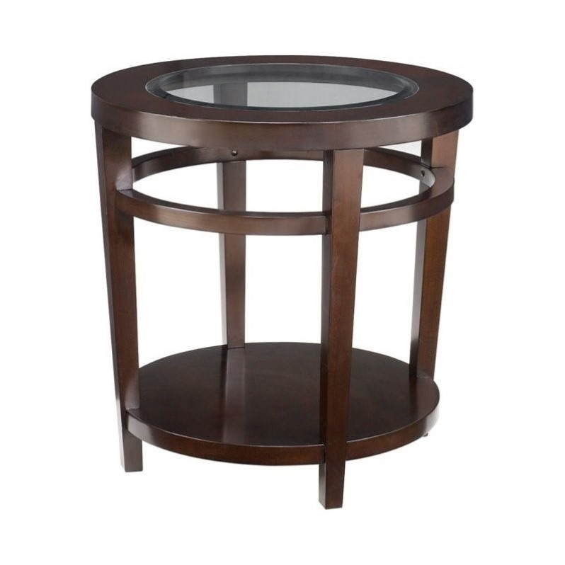 Hammary urbana round end table in merlot t2081535 00 for Table urbana but