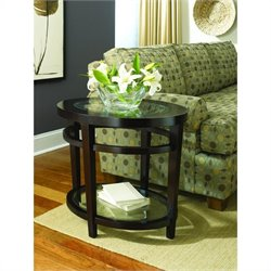 Hammary Urbana Oval End table in Merlot