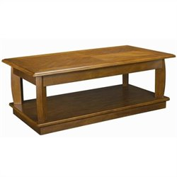 Hammary Ascend Rectangular Lift Top Cocktail Table in Medium Oak