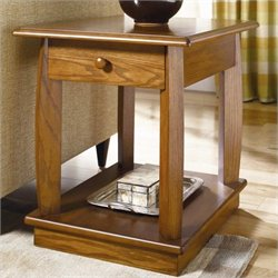 Hammary Ascend Rectangular Drawer End Table in Medium Oak