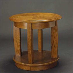 Hammary Ascend Round End Table in Medium Oak