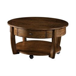 Hammary Concierge Round Cocktail Table in Brown