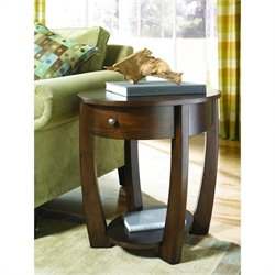 Hammary Concierge Oval End Table in Brown