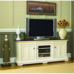 Hammary Promenade Entertainment Console in Fruitwood/Antique Linen