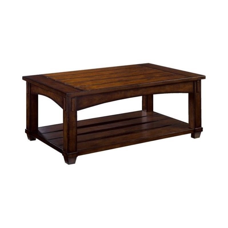Hammary Tacoma Rectangular Lift Top Cocktail Table In Rustic Brown 049 910