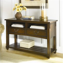 Hammary Tacoma Console Table in Rustic Brown